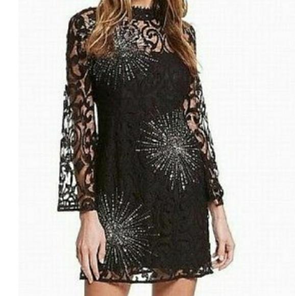 Free People Dresses Black Lace Illusion Dress Poshmark
